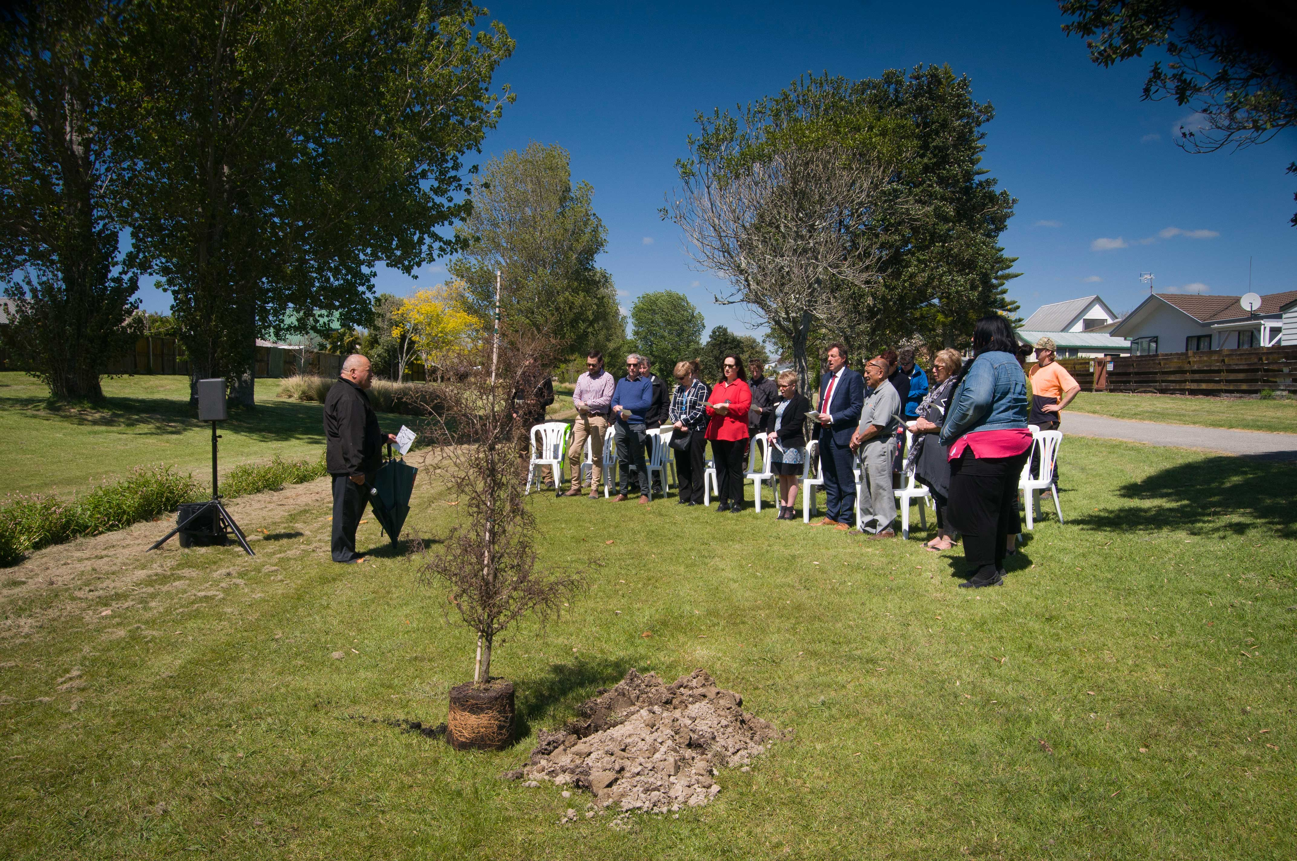 Opening blessing for Wairākei  Stream