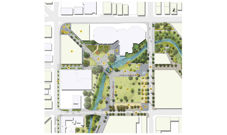 Avon River Precinct, North and East Frame